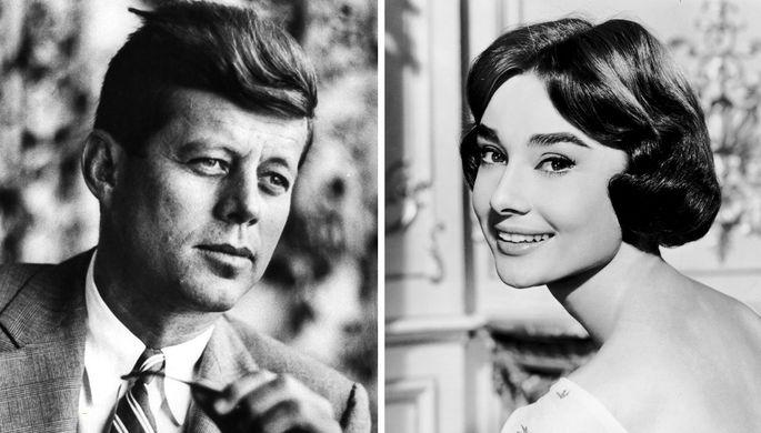 Джон Кеннеди и Одри Хепберн