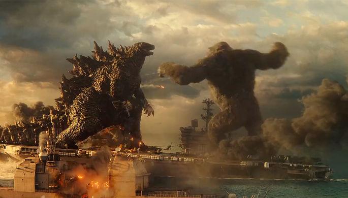 Кадр из фильма «Годзилла против Конга» (2021)