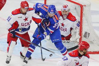 ЦСКА против СКА в КХЛ