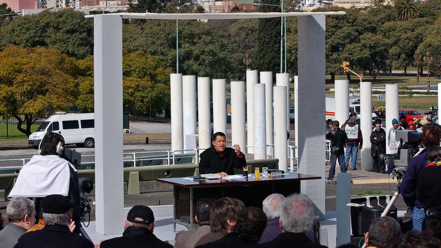 Уго Чавес в эфире программы «Алло, президент», 2003 год