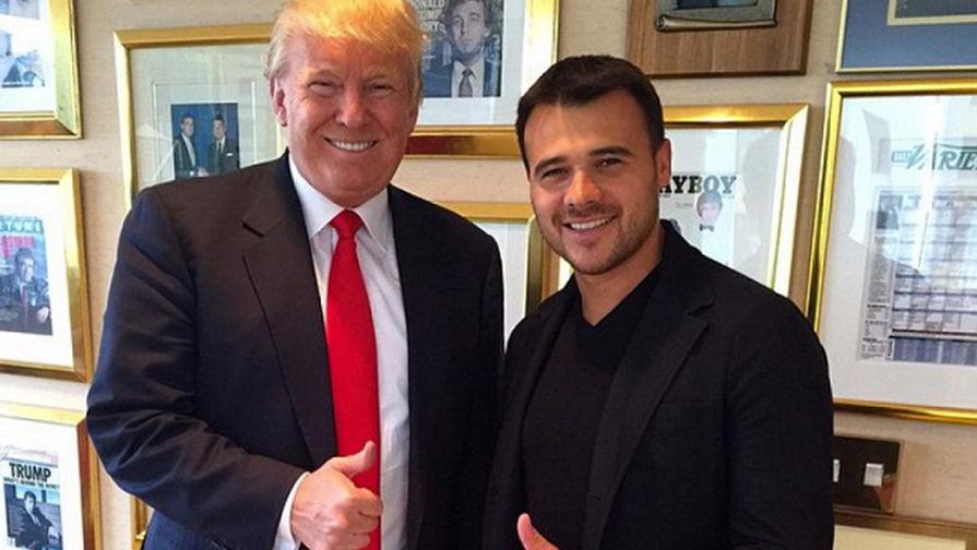 Президент США Дональд Трамп и Эмин Агаларов