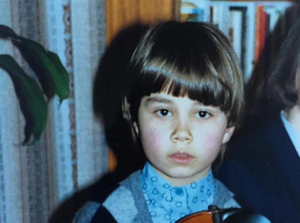 Александр Рыбак в детстве