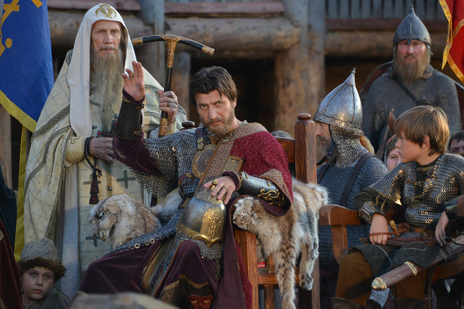 Кадр со съемок сериала «Золотая Орда»