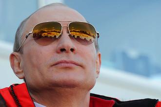 Президент Владимир Путин на Олимпиаде в Сочи, 2014 год