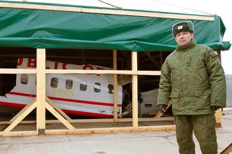 Обломки самолета Ту-154М президента Польши Леха Качиньского на военном аэродроме под Смоленском, апрель 2012 года