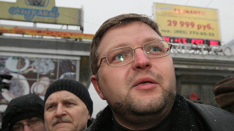 Лидер СПС Никита Белых во время несанкционированного «Марша несогласных» в Москве, 2008 год