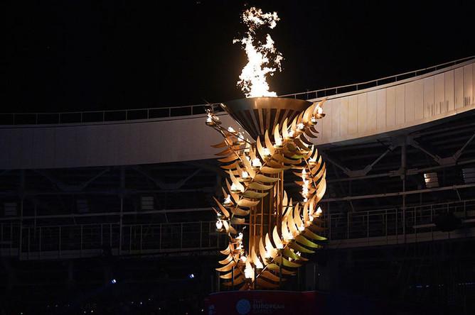 Чаша огня II Европейских игр в Минске, 30 июня 2019 года