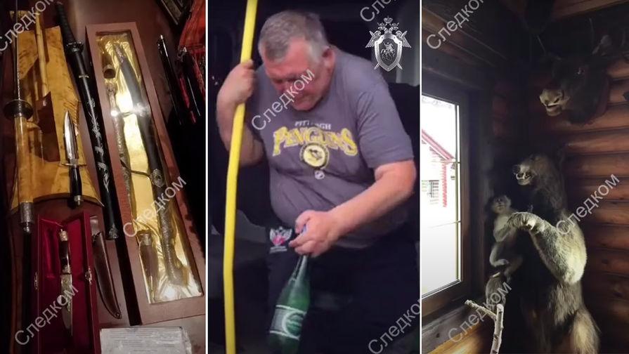 Во время обысков у Игоря Кокунова (кадр из видео)