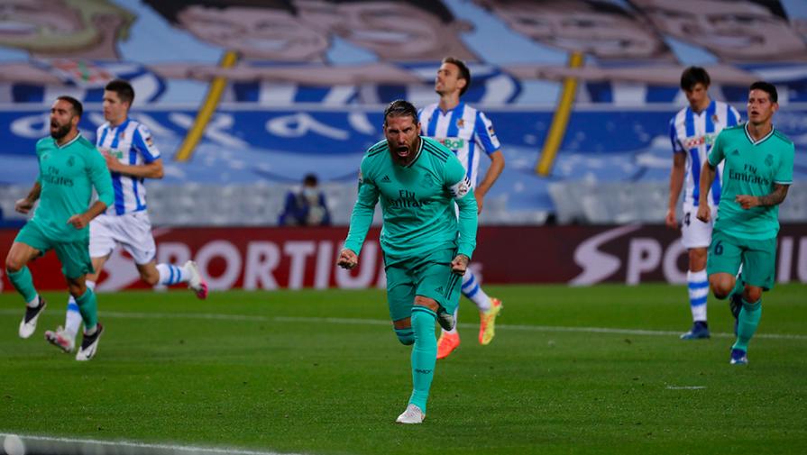 """""""Реал Мадрид"""" обыграл """"Реал Сосьедад"""" и вышел на первое место в Ла Лиге"""