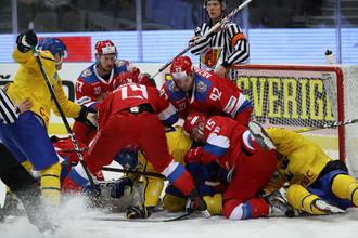 Сборная России по хоккею одержала победу над командой Швеции во втором туре Шведских игр