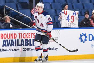 Игрок молодежной сборной США по хоккею