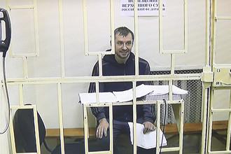 Врио главы управления «Т» антикоррупционного главка (ГУЭБиПК) МВД России Дмитрий Захарченко в Мосгорсуде, 27 сентября 2016 года