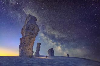 Столбы выветривания на плато Мань-Пупу-Нер, символ Республики Коми