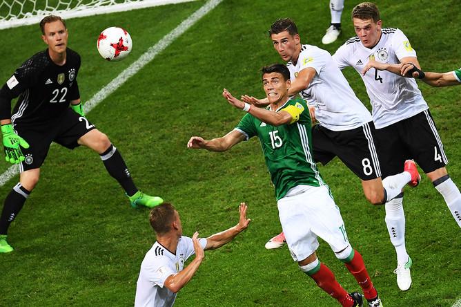 Во время матча 1/2 финала Кубка конфедераций-2017 по футболу между сборными Германии и Мексики