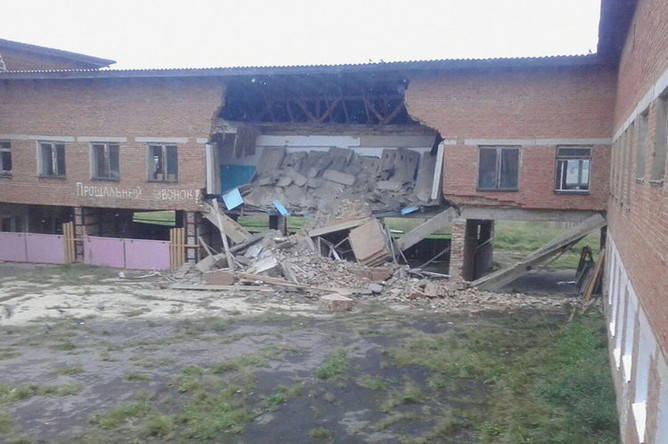 Последствия обрушения в здании школы в селе Уян Куйтунского района Иркутской области, 11 сентября 2018 года