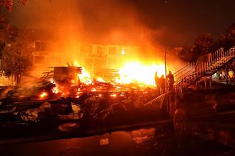 Ликвидация пожара в детском лагере в Одессе, 16 сентября 2017 года
