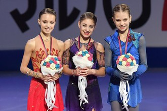 Алена Косторная, Александра Трусова и Анна Щербакова