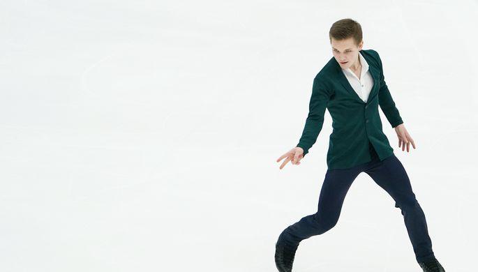 Анна Щербакова в произвольной программе женского одиночного катания на чемпионате мира по фигурному катанию в Стокгольме