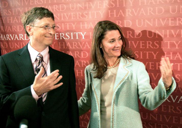 Билл и Мелинда Гейтс в Гарварде, 2007 год