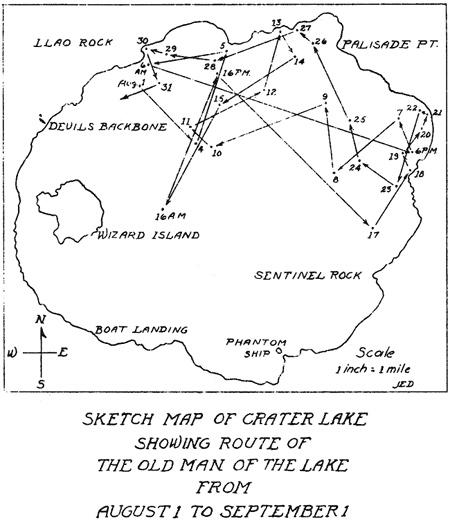 Одно из наблюдений за перемещениями пня, сделанное в начале 20 века