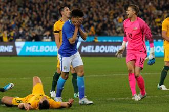 Сборная Бразилии разгромила национальную команду Австралии в гостевом товарищеском матче