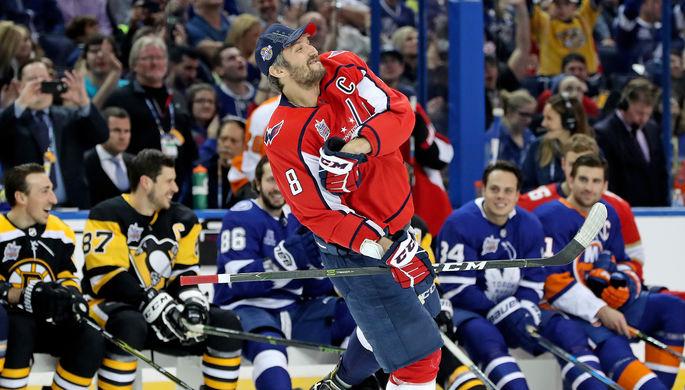 Российский нападающий Александр Овечкин в Шоу звезд НХЛ