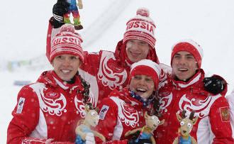 Россияне — вторые в смешанной эстафете на зимних ЮОИ