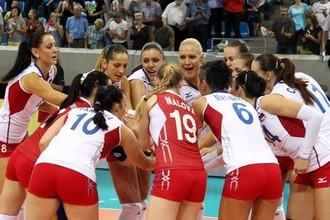 Российские девушки вышли в плей-офф чемпионата Европы по волейболу