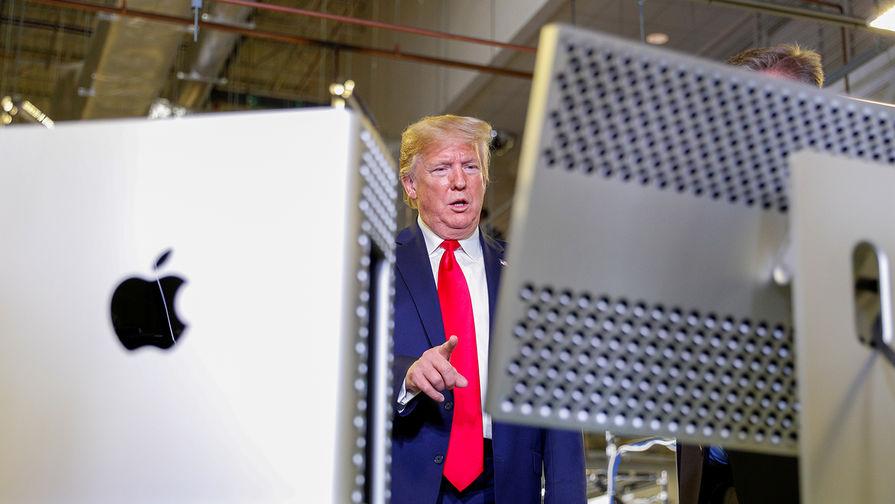 Президент США Дональд Трамп на фабрике Apple в Остине, штат Техас, 20 ноября 2019 года