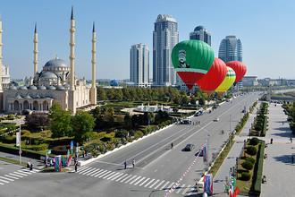 Гуляния по случаю празднования 198-летия города Грозного