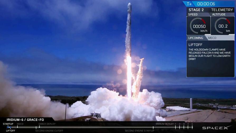 SpaceX запустила ракету Falcon 9