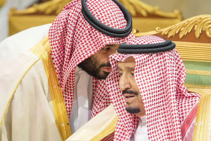 Наследный принц Саудовской Аравии Мухаммед ибн Салман и король Салман