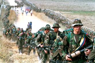 Отряд леворадикальной повстанческой группировки FARC в Колумбии