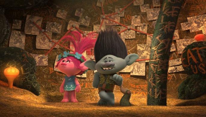Кадр из мультфильма «Тролли» (2016)