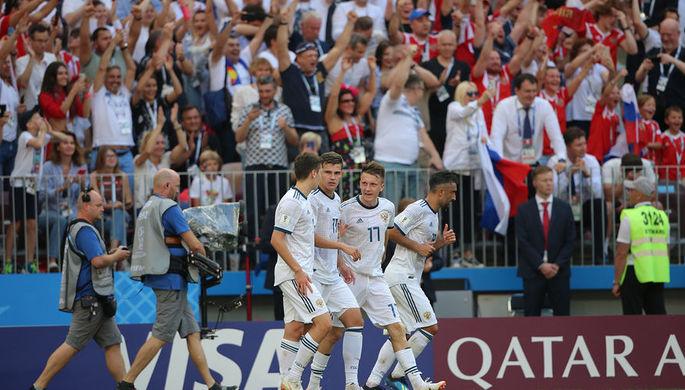 Во время матча 1/8 финала чемпионата мира по футболу между сборными Испании и России, 1 июля 2018 года