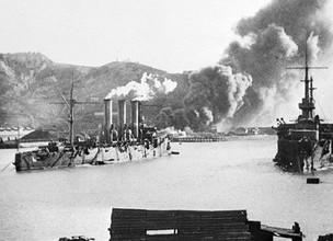 Пожар у Золотой горы во время обороны Порт-Артура