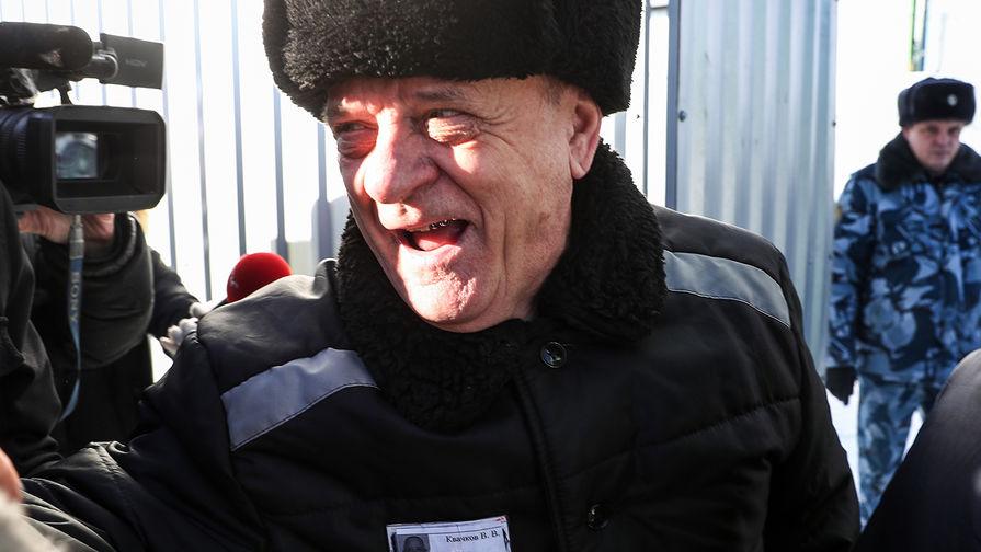 Бывший полковник ГРУ Владимир Квачков после выхода изисправительной колонии №5, 19 февраля 2019 года