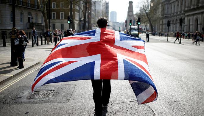 Сторонник Brexit во время демонстрации в Лондоне, март 2019 года