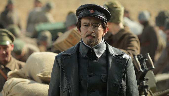 Кадр со съемок сериала «Троцкий»