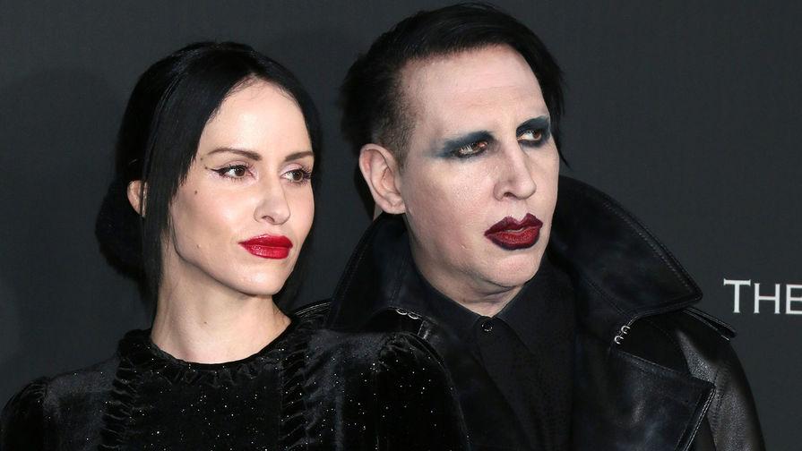 Мэрилин Мэнсон и его жена Линдси Юсич, 2020 год