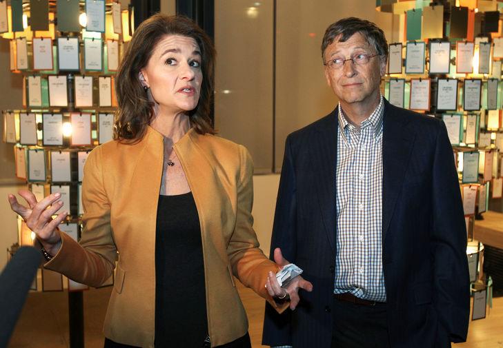 Мелинда и Билл Гейтс в новом здании центра для посетителей своего фонда в Сиэтле, 2012 год