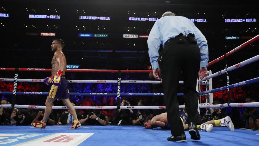 Ломаченко нокаутировал Кроллу и защитил пояса WBA и WBO