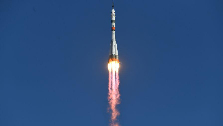 Запуск ракеты-носителя «Союз-2.1а» с пилотируемым кораблем «Союз МС-14» со стартовой площадки космодрома Байконур, 22 августа 2019 года