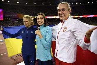 Российская прыгунья в высоту Мария Ласицкене завоевала золото на чемпионате мира по легкой атлетике — 2017, но не смогла отметить победу с российским флагом из-за нейтрального статуса