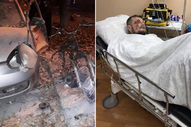 Последствия взрыва в центре Киева, 25 октября 2017 года