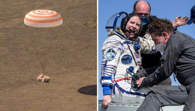«Глоток воздуха с запахом дыма»: «Союз МС-17» вернулся с МКС