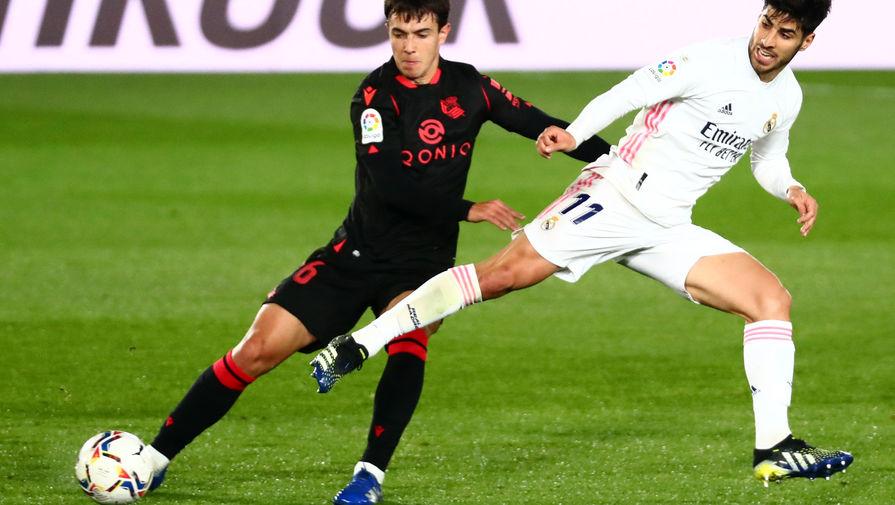 Эпизод матча «Реал» — «Реал Сосьедад»