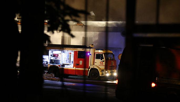 Пожар в доме в центре Москвы локализован