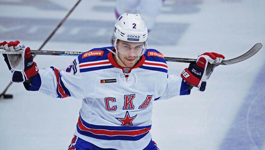 Игрок хоккейного СКА Артем Зуб