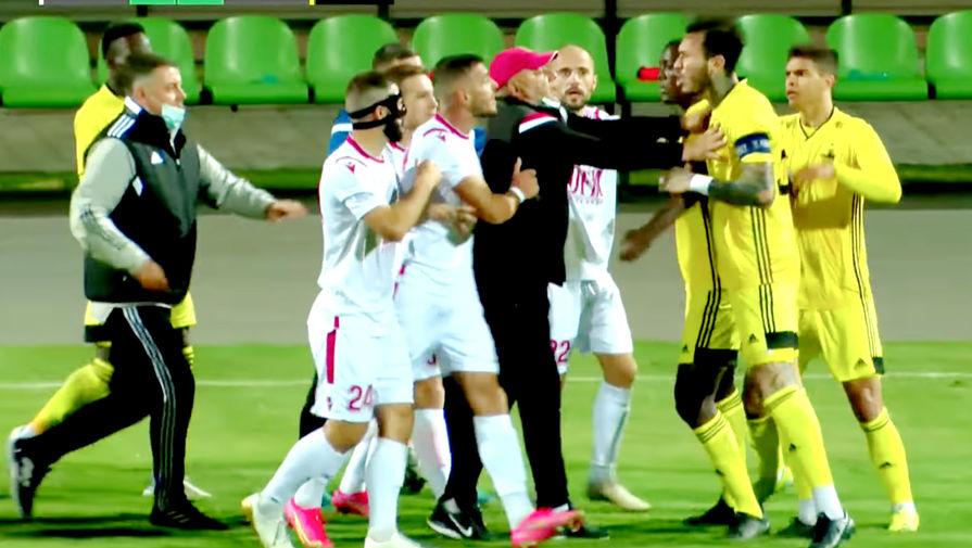 Футболисты Шерифа устроили массовую драку во время матча чемпионата Молдавии